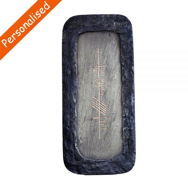 Personalised Ogham Name Plaque handcrafted in Ireland