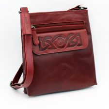 Red Leather Handbag, handmade in Ireland by Lee River, Cork