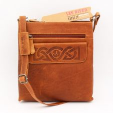 'Mary' Leather Handbag (tan) handmade in Co Cork by Lee River Leather