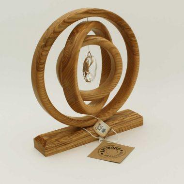 Crystal Suncatcher handmade in Ireland from Olive Ash, wonderful wood gift