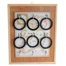 Framed Championship Heritage Ring Board, play the old Irish game of Rings, made in Ireland