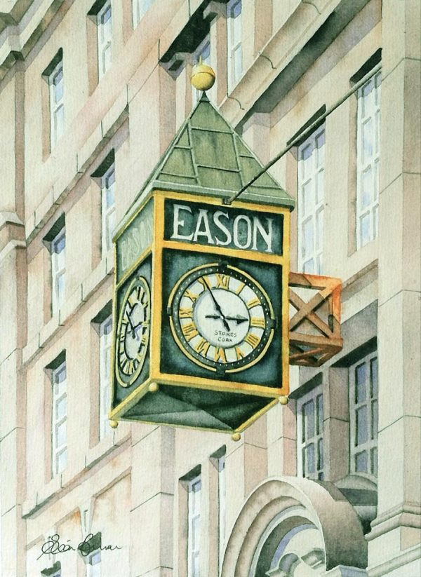 Eason limited edition print, mounted & signed by the artist, Seán Curran