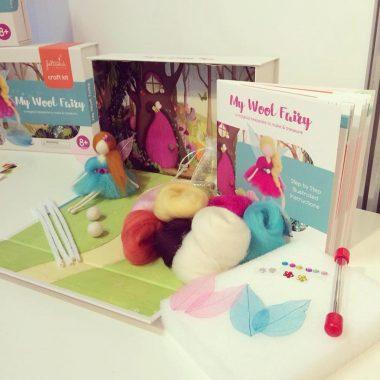 My Wool Fairy kit, makes 2 fairies, created in Ireland by Feltastik