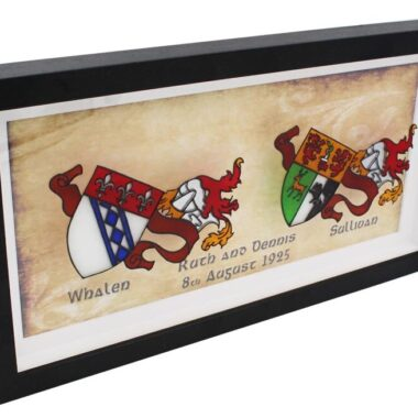 glass coat of arms made in Ireland