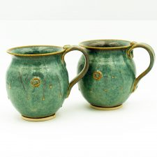Handmade Irish Pottery set of 2 Celtic mugs by Castle Arch Pottery