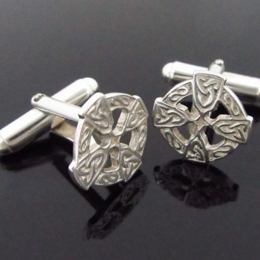 Celtic Cross Silver Cufflinks gifts for men Ireland