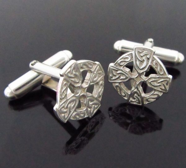 Celtic Cross Silver Cufflinks gifts for men Ireland