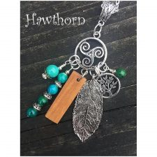 Celtic Birthwood Charm Necklace, design and made in Ireland