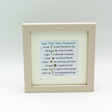 First Holy Communion Poem, lovely poem in a mini frame, made in Ireland