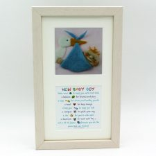 New Baby Boy twin prints, image and poem in one frame, made in Ireland