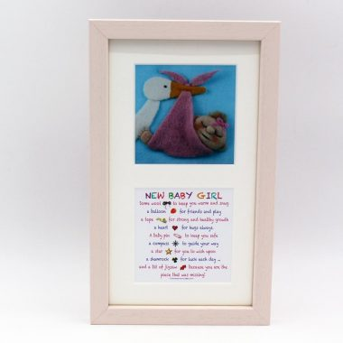 New Baby Girl twin prints, two mini prints, gifts for baby girls, made in Ireland