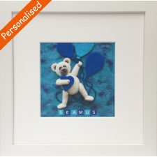 Teddy for Boys Frame, personalised with child's name, made in Ireland