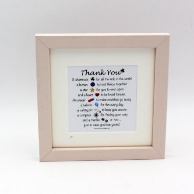 Thank you poem gift made in Ireland