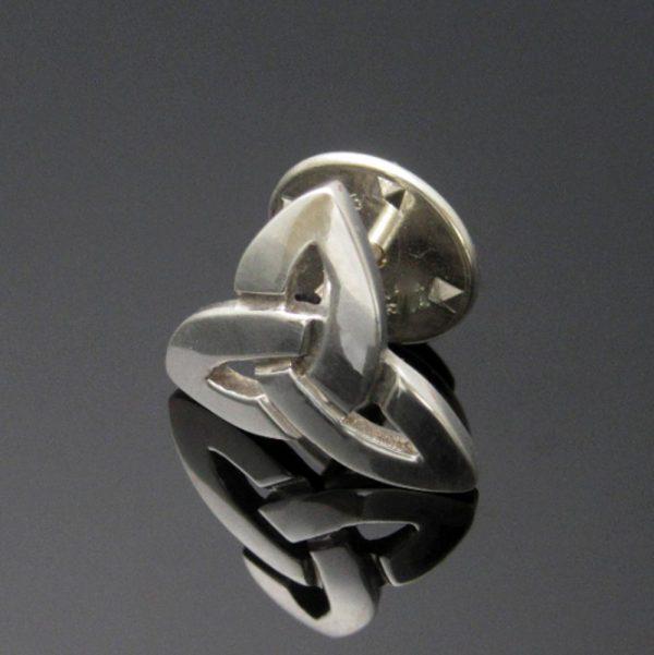 Trinity Knot Tie Pin handmade in Ireland, Jewellery gifts for men Ireland