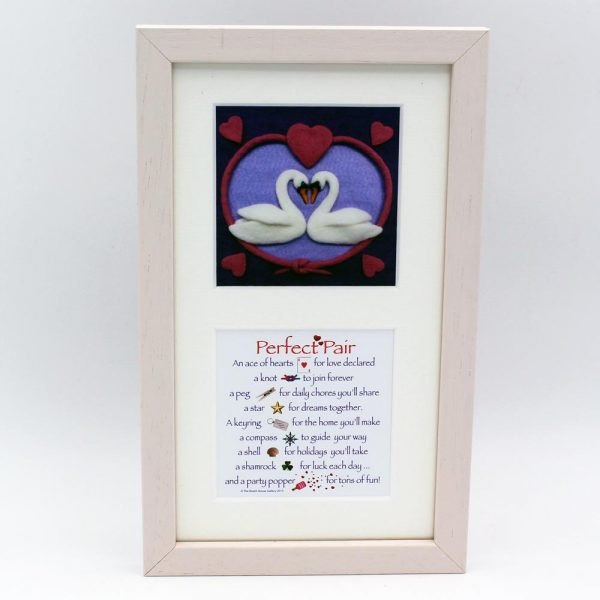 Perfect Pair twin prints frame, lovely image and matched with a lovely poem, made in Ireland