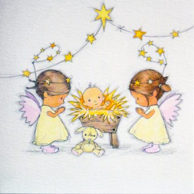 Angel Christmas Cards with Irish and English text, made in Ireland