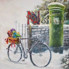 Nollaig Christmas Cards An Post Scene, printed in Ireland