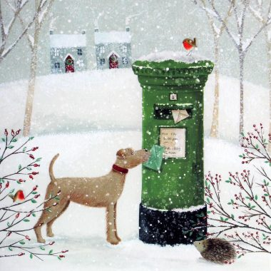 Christmas Post Box Card, lovely Christmas cards made in Ireland
