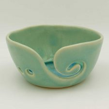 Ceramic Yarn Bowl, handmade in Ireland, perfect for knitters and crocheters