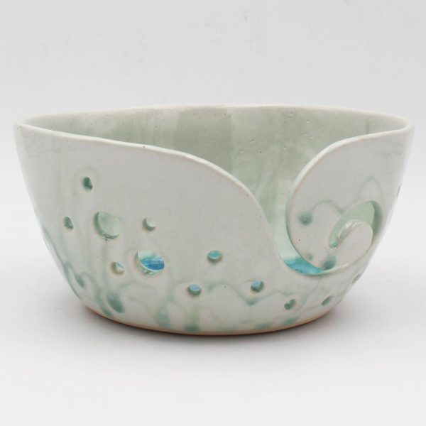 Ceramic Knitting Bowl, handmade in Ireland, perfect for knitters and crocheters