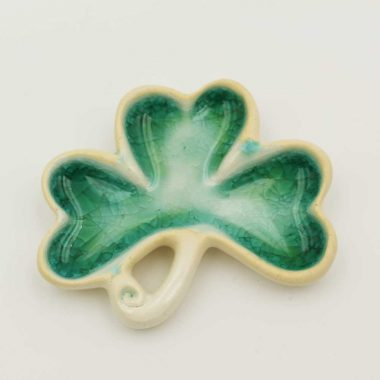 Ceramic Shamrock Ornament made in Ireland