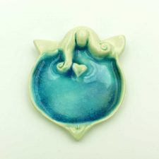Ceramic angel blue handmade in Ireland
