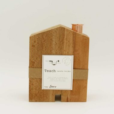 Teach Candle Holder (large) handcrafted from beech wood in the shape of a house, made in Ireland