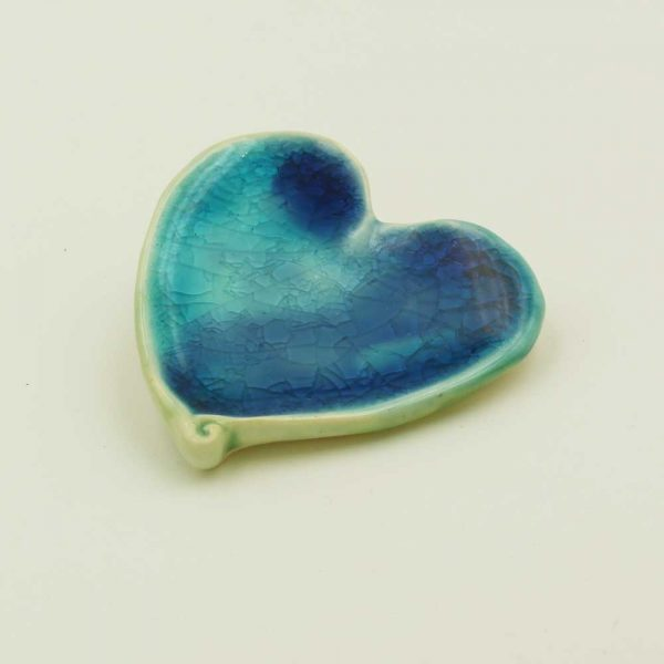 Ceramic Heart ornament, handmade in Ireland