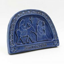 Sacred Journey Christmas plaque with option to hang or stand. Handmade in Ireland by Callura Pottery