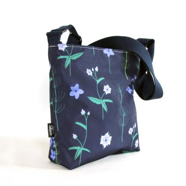 Sallyann Small Cross Body, blue burren, small handbag made in Ireland