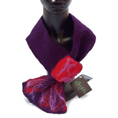 Minard Neckwrap (Deep Plum/Red), handmade in Ireland, gifts for women