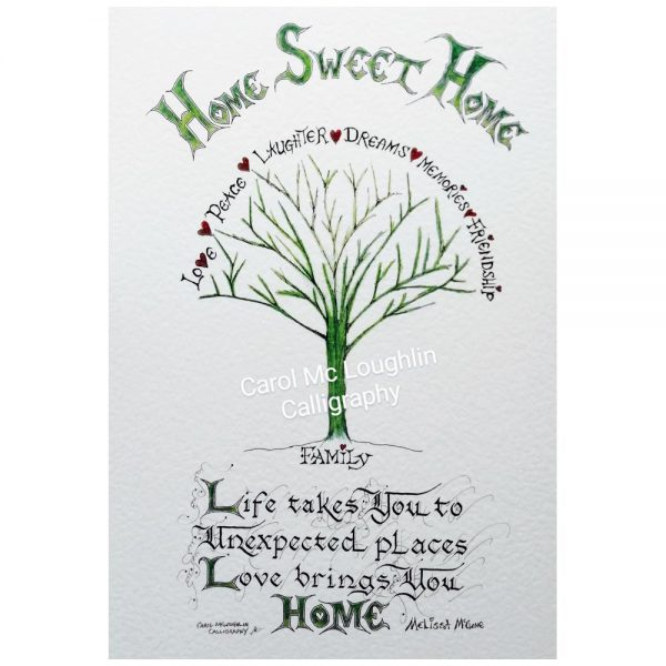 Home Sweet Home print, new home gifts made in Ireland