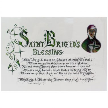 Saint Brigid's Blessing for a home, mounted and ready to frame