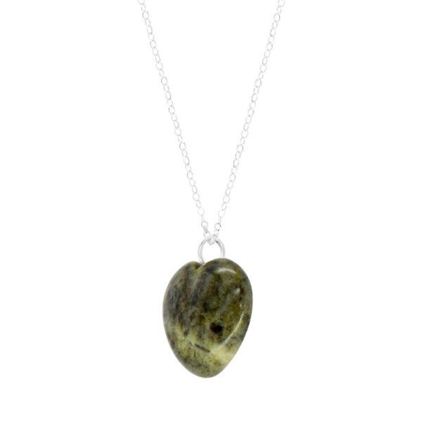 Connemara Marble green Heart Pendant