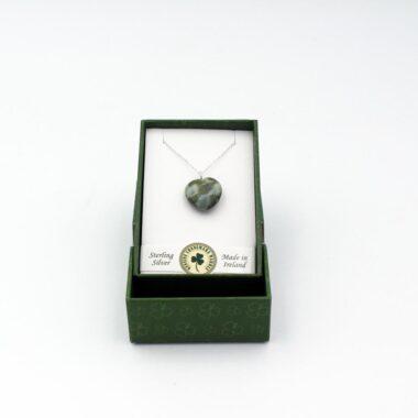 Connemara Marble Heart Pendant unique gifts for women ireland