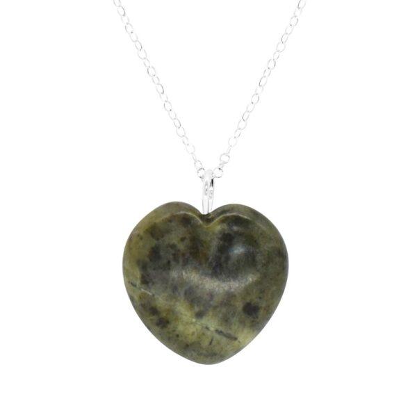 Connemara Marble Heart Pendant made in Ireland