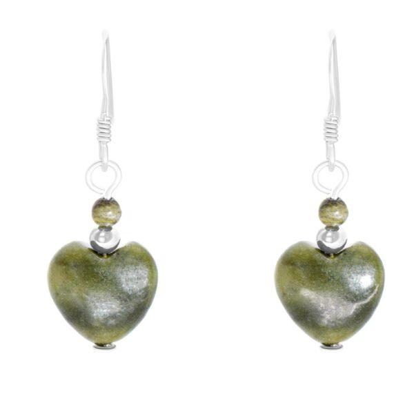 Connemara Marble Heart Earrings, gift of friendship Ireland