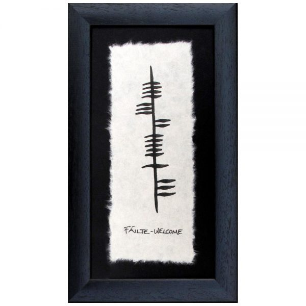 Fáilte - Welcome ogham frame, handmade in Ireland by Ogham Wishes