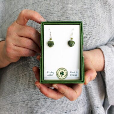 Connemara Marble Heart Earrings Ireland