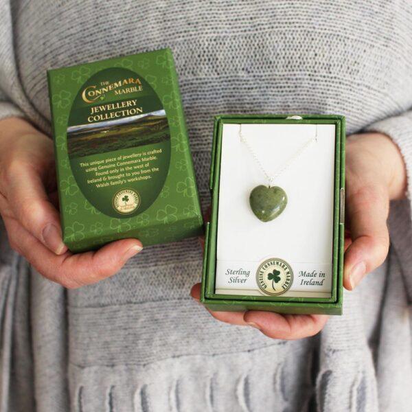 Connemara Marble Heart Pendant Ireland