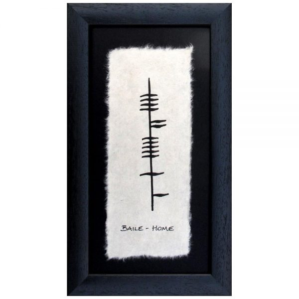 Baile Home Ogham frame, handmade in Ireland by Ogham Wishes