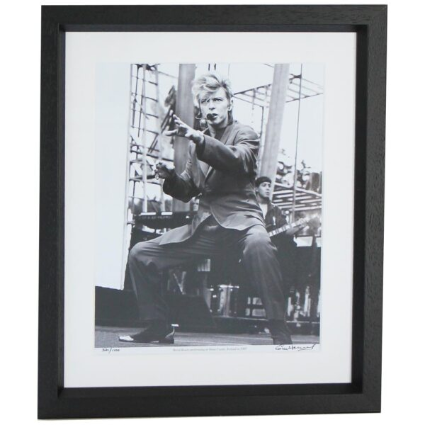 David Bowie framed photo print performing at Slane Castle, Ireland, 1987, taken by Hot Press Photographer Colm Henry