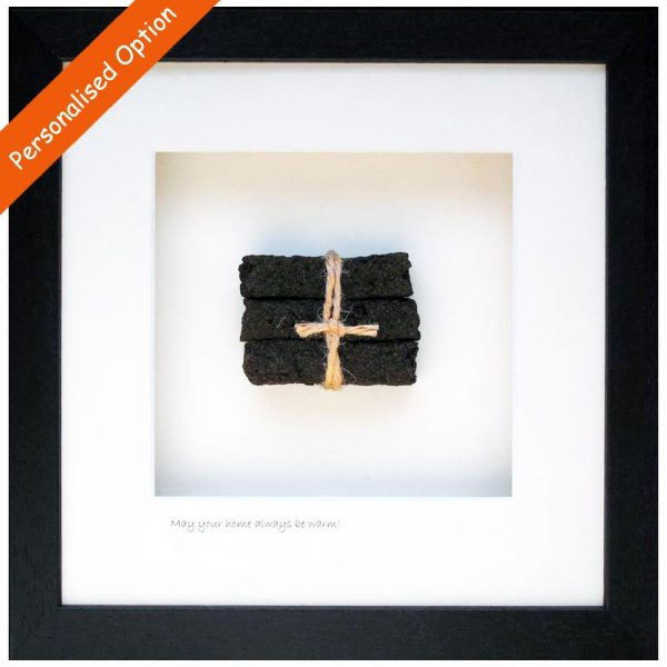 Home turf framed gift, caption may your home always be warm, made in ireland