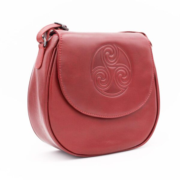 Quality Red Leather Handbag made in Ireland