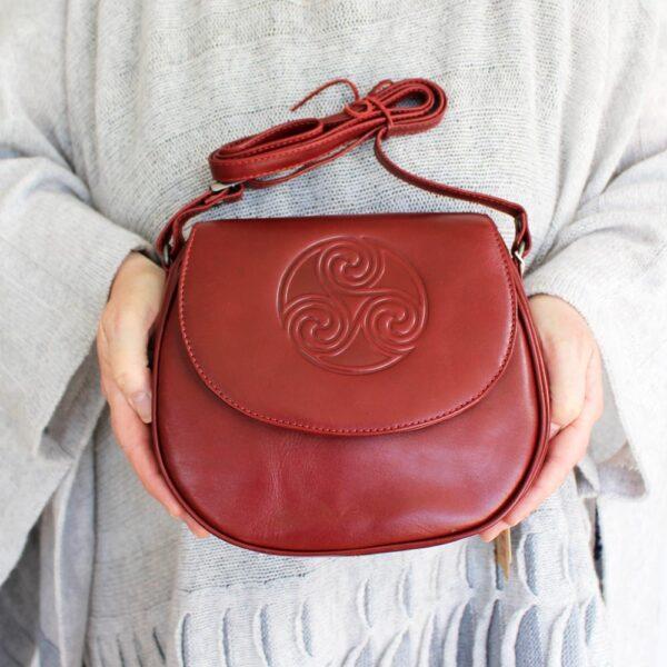 red leather handbag Ireland