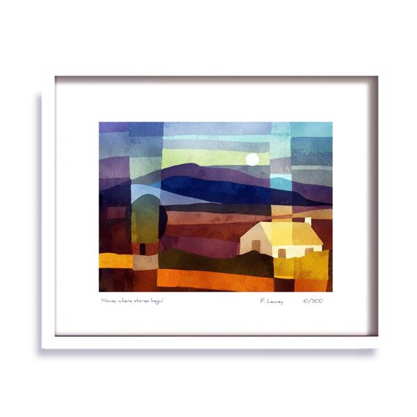 Home, Home, Where Stories Begin Framed Print, signed by the artist, made in Ireland