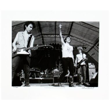U2 Punchestown 1982, limited edition mounted photo print by Colm Henry