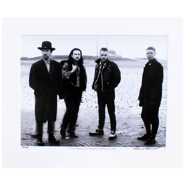 U2 Pigeon House, mounted photo print, limited edition, signed by photographer Colm Henry