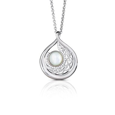 Teardrop large pearl necklace, made in Ireland by Boru Jewellery, perfect for wedding anniversary 30th gift