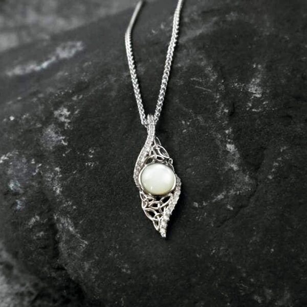 Mother of Pearl necklace, perfect 30th wedding anniversary gift, handmade in Ireland